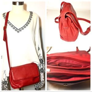 Tignanello Vintage Red Crossbody Bag